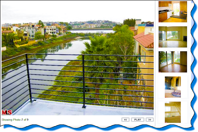 Marina Del Rey canal condo rental is a beach house for lease with ocean views & renting Marina Del Rey home with 2 large patios.