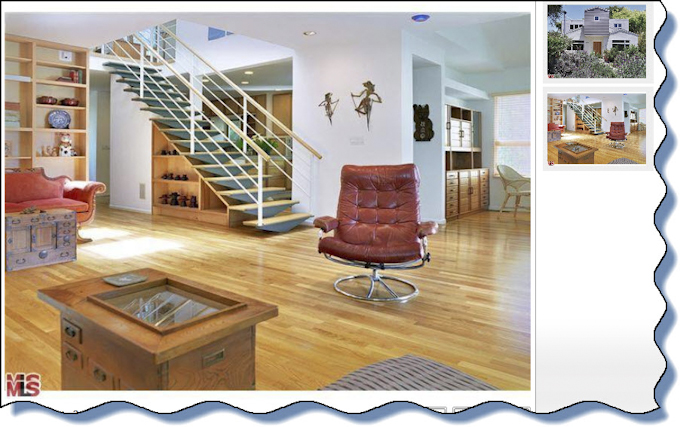 Open floor plan of Marina Del Rey beach houses for rent with hardwood floors leased by house finder service of Beach Bums Realty