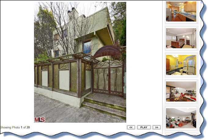 This Venice beach rental is a townhouse with expansive open living area andr wonderful fireplace_