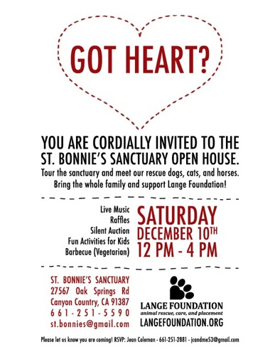 Lange Foundation animal rescue event