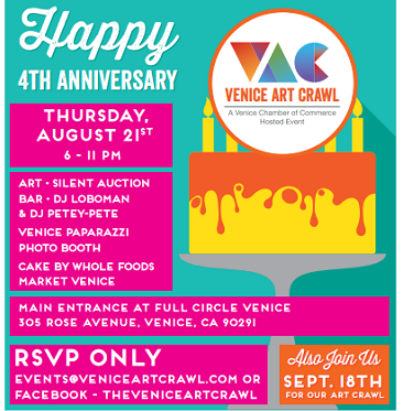 Venice Beach Art Crawl 4th Anniversary event poster